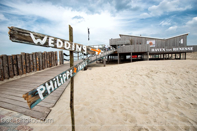 Strandpaviljoen De Haven van Renesse Bruidsfotografie Renesse Philippe en Ineke 33