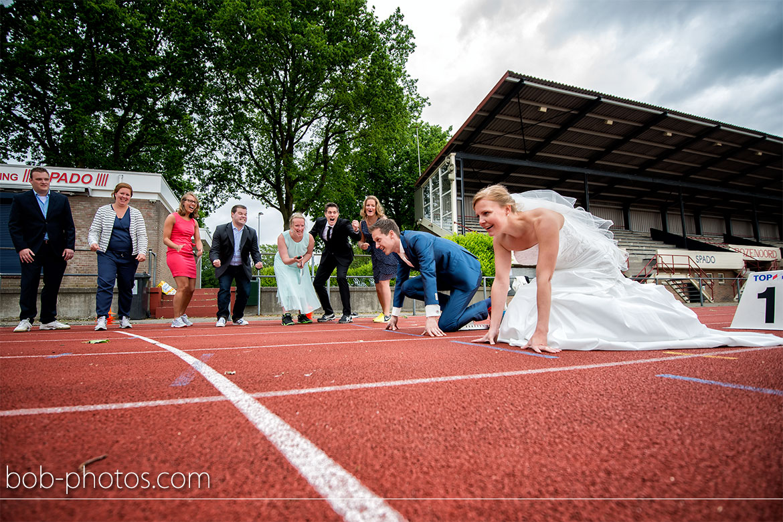 atletiekbaan Bruidsfotografie Halsteren Okko & Nienke 37