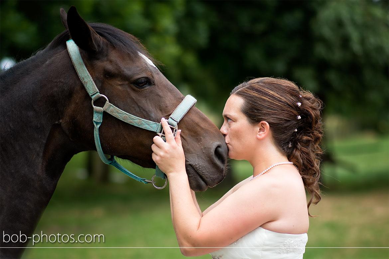 Bruid en paard Bruidsfotografie Hulst Wim & Natascha 18