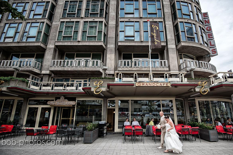 Engels Grandcafe Bruidsfotografie Rotterdam Edwin & Debby 017