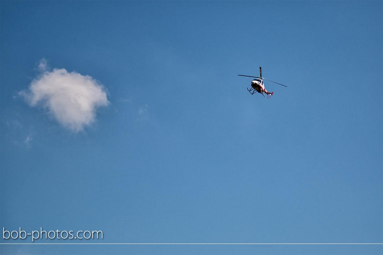 Enstrom 480 Helicopter Bruidsfotografie Bergen op Zoom Joost en Dieneke30