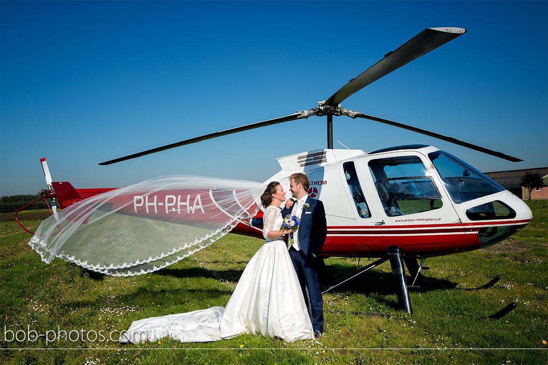 Enstrom 480 Helicopter Bruidsfotografie Bergen op Zoom Joost en Dieneke31