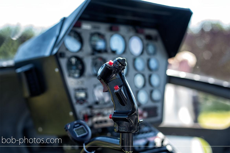 Enstrom 480 Helicopter Bruidsfotografie Bergen op Zoom Joost en Dieneke32