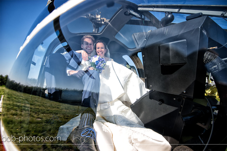 Enstrom 480 Helicopter Bruidsfotografie Bergen op Zoom Joost en Dieneke33