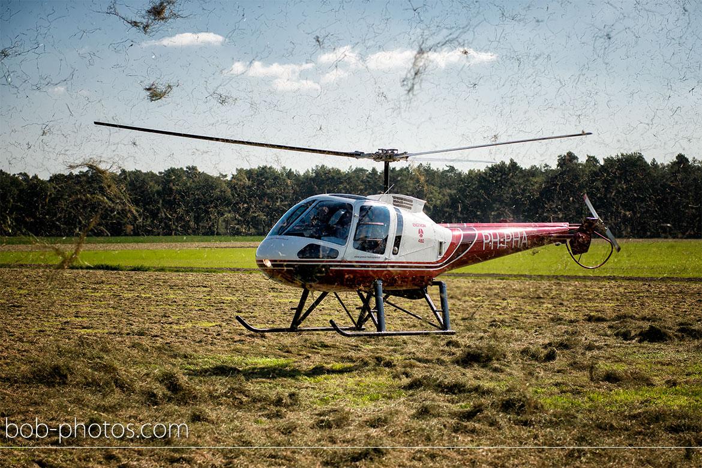 Enstrom 480 Helicopter Bruidsfotografie Bergen op Zoom Joost en Dieneke34