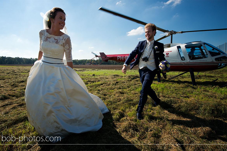 Enstrom 480 Helicopter Bruidsfotografie Bergen op Zoom Joost en Dieneke35