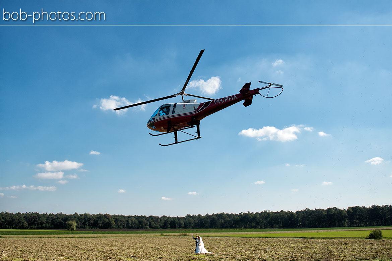 Enstrom 480 Helicopter Bruidsfotografie Bergen op Zoom Joost en Dieneke36