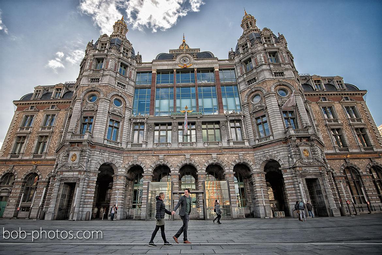Centraal station Loveshoot Antwerpen Ralf & Astrid 02