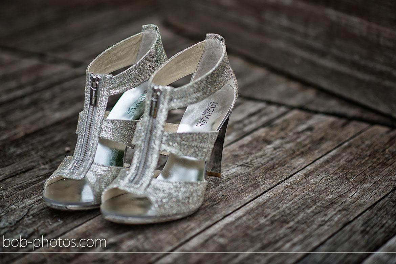 Michael Kors - Berkley T-Strap in Silver Glitter Bruidsfotografie