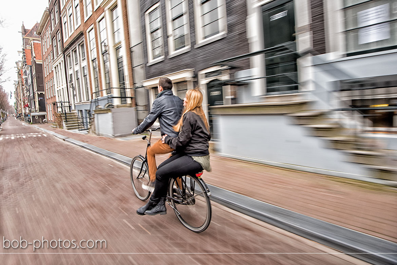 fietsen loveshoot amsterdam kevin & tatjana