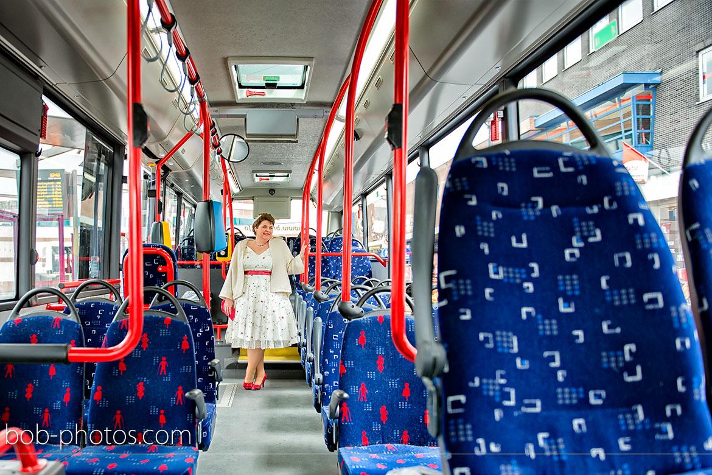 ARRIVA stadsbus Bruidsfotografie Roosendaal