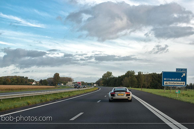 Audi R8 Bruidsfotografie Willemstad