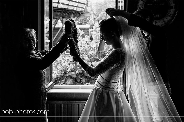 Voorbereidingen Bruidssluier