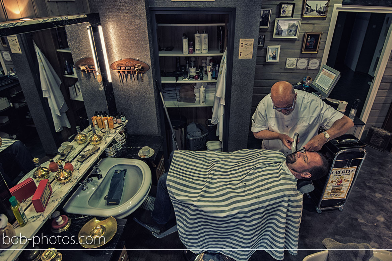 Voorbereidingen Bruidegom barbier