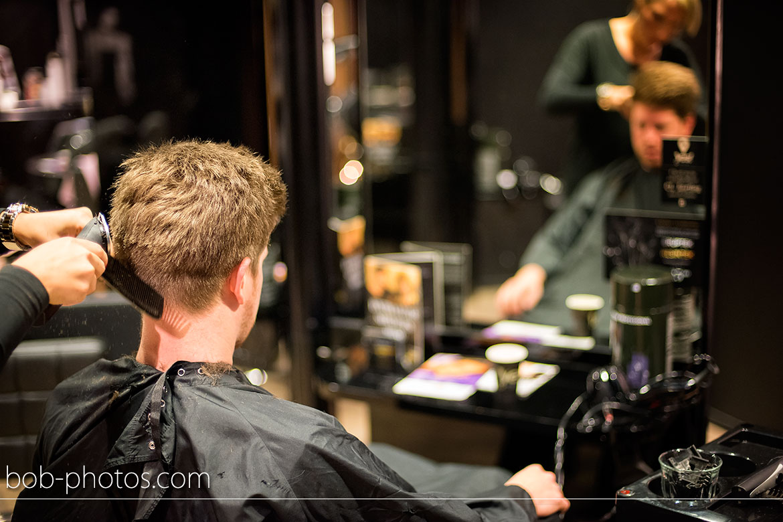 Voorbereidingen Bruidegom kapper