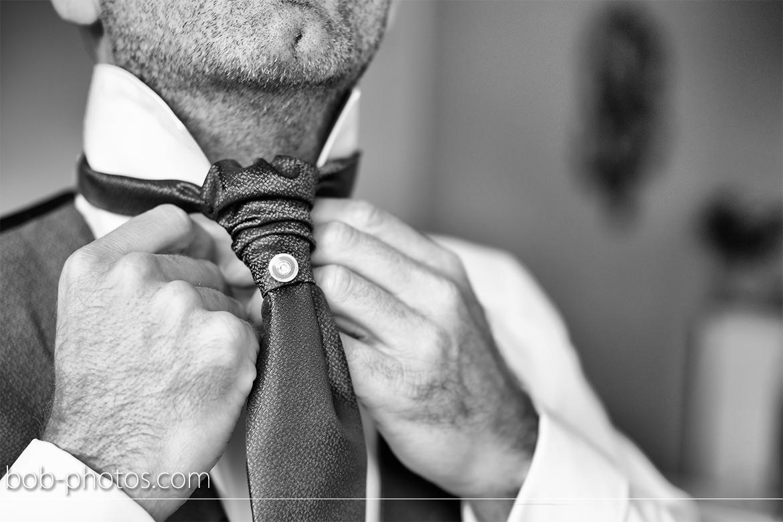 Voorbereidingen Bruidegom plastron