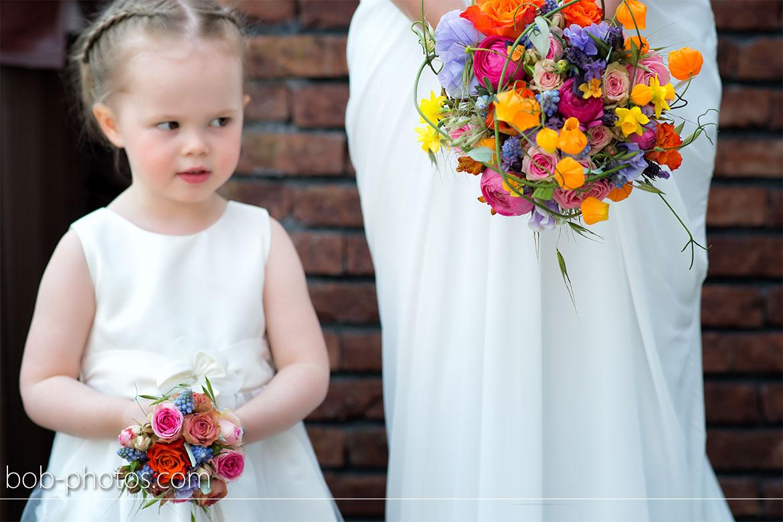 Bruidsmeisje met boeket