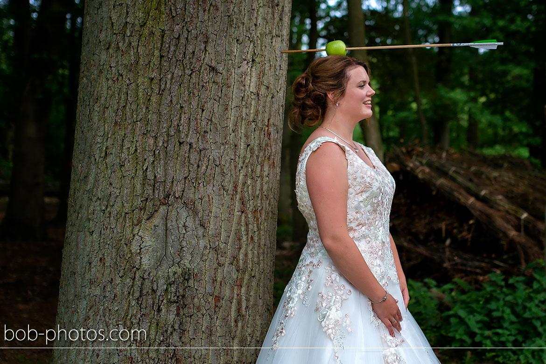 Handboogschieten Bruidsfotografie Schijf