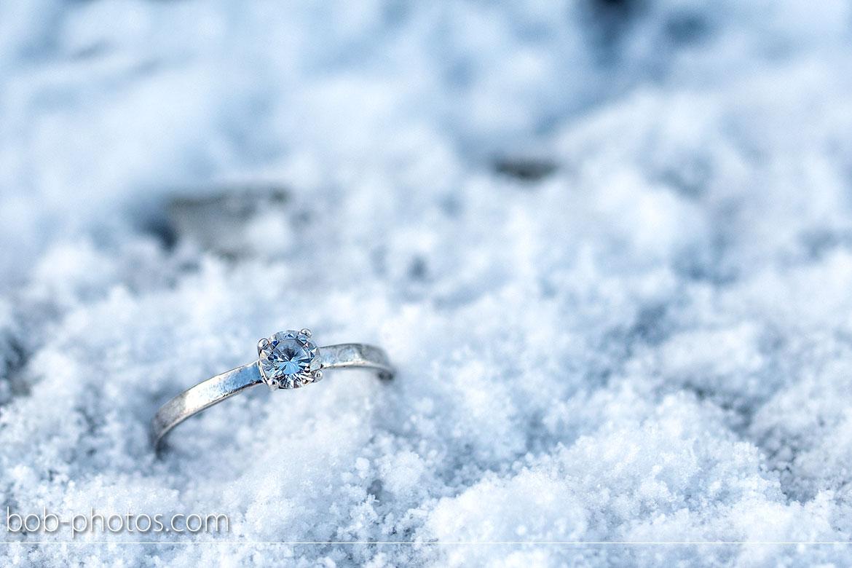 diamond ring snow Loveshoot Iceland
