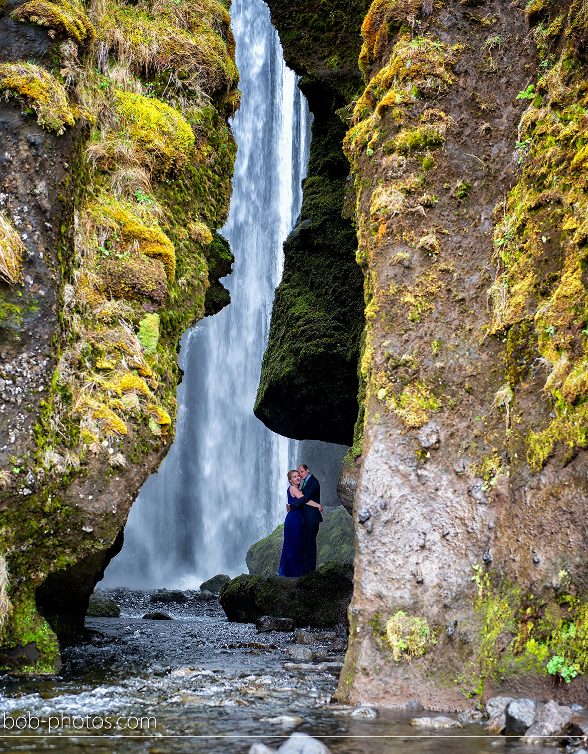 Gljúfrabúi waterfall Loveshoot Iceland