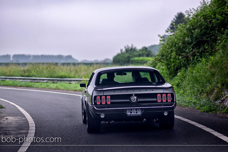 Ford Mustang 1969 Bruidsfotografie Yerseke Zeeland