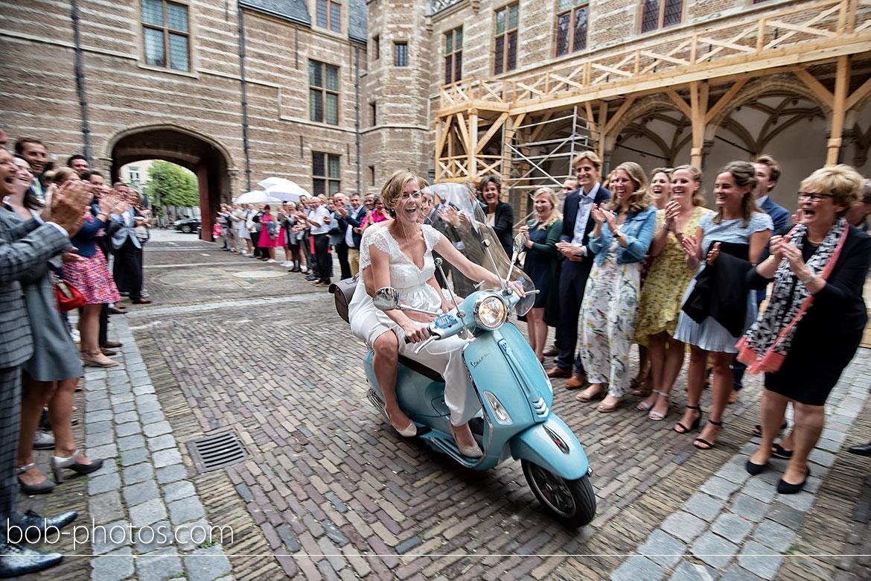 Vespa trouwfotografie Bergen op Zoom