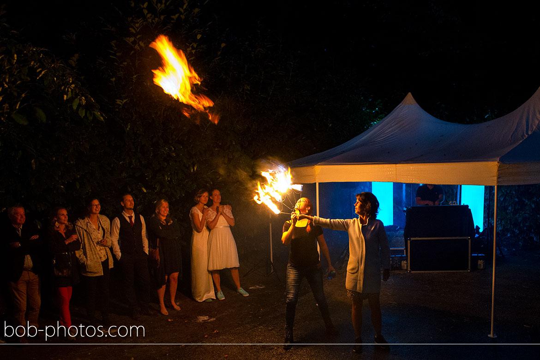 Vuurshow trouwfotografie Bergen op Zoom