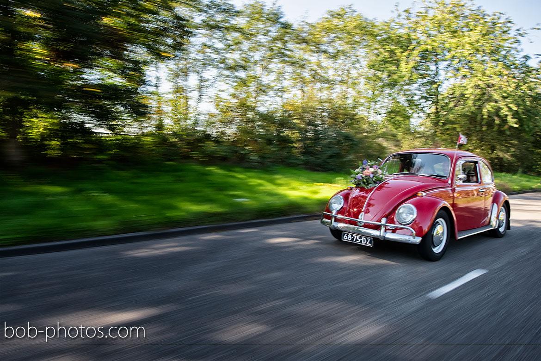 VW Red Kever Bruidsfotografie Roosendaal