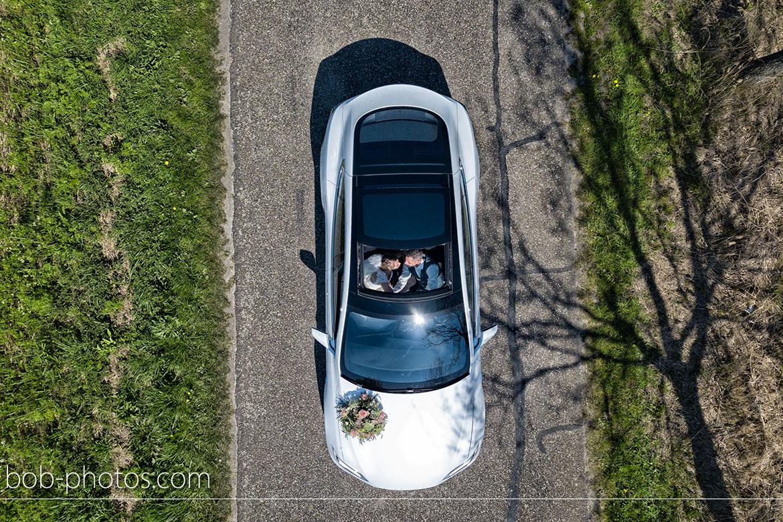 drone Telsa Bruidsfotografie