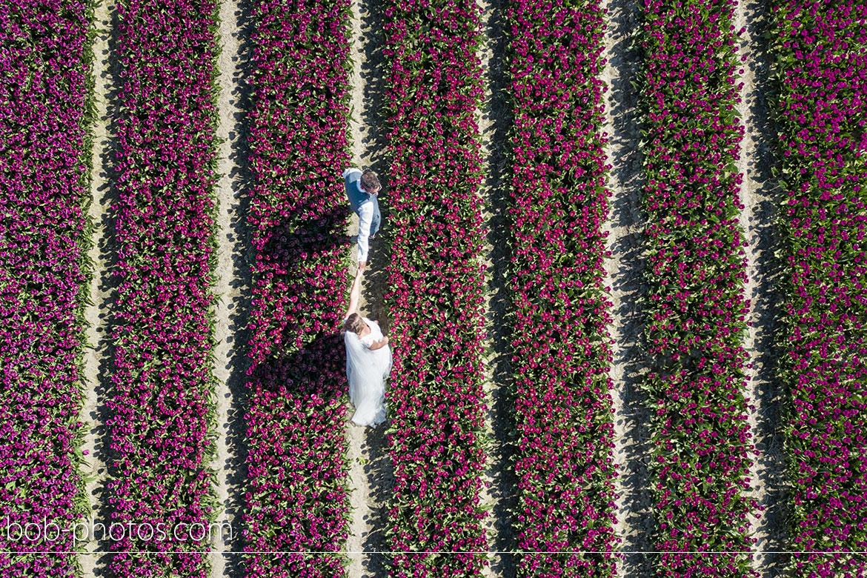 drone tulpenvelden Bruidsfotografie Tholen