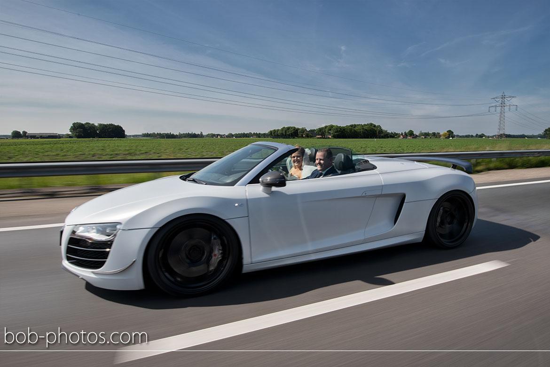 Bruidsfotografie Audi R8 Spyder V10