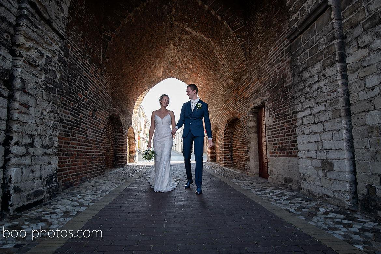 Bruidsfotografie gevangenpoort Bergen op Zoom
