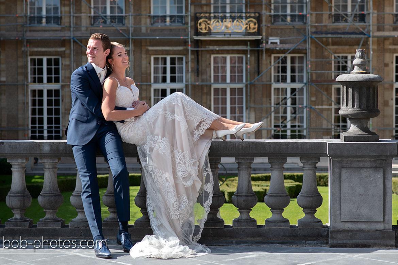 Bruidsfotografie Markiezenhof historische Franse tuin